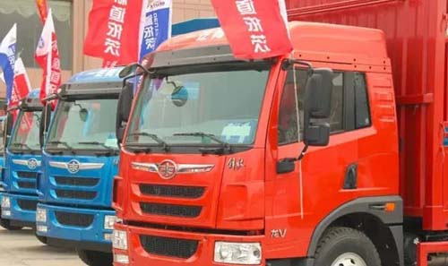 汽车市场网卡车频道-一汽解放青岛龙v以卓越品质耀动