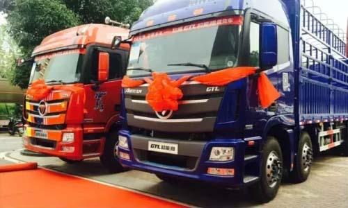 福田欧曼gtl超能版载货车安徽上市会斩获52台订单