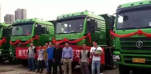汽车市场网卡车频道-陕汽新型环保渣土车助力苏州地铁