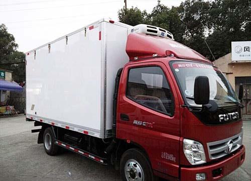红箱货车矢量图
