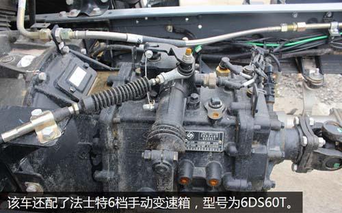 除了搭载比较受欢迎的玉柴发动机外,这台车还配了法士特6档手动